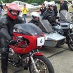 Unsere Moto Guzzi Le Mans 2 Classic Racer im Vorstartbereich bei den Classic Motor Days