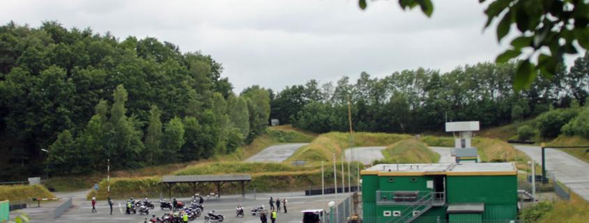 Streckenverlauf auf dem heidbergring in Geesthacht