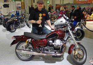 Moto Guzzi California EV Umbau von Doc Jensen Prämierung